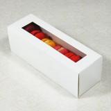 6 White Window Macaron Boxes($1.40/pc x 25 units)