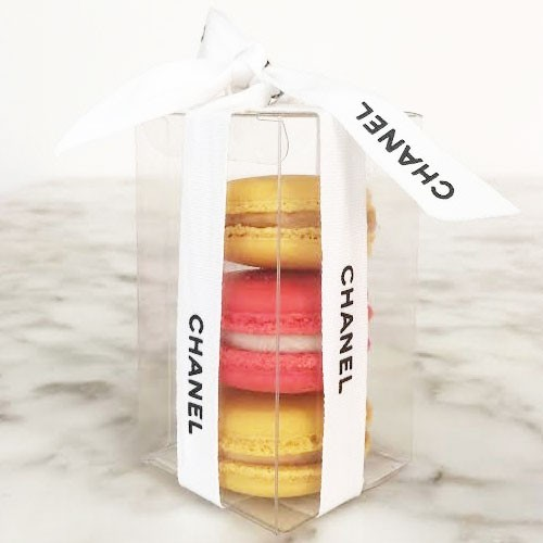 Clear Macaron Boxes for 3 Macarons($1.20/pc x 25 units)