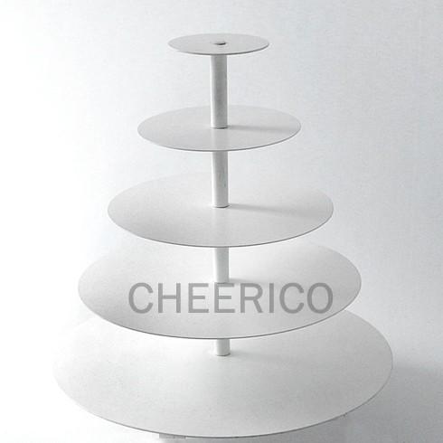 5 Tier Maypole White Acrylic Cupcake Stand Tower Display