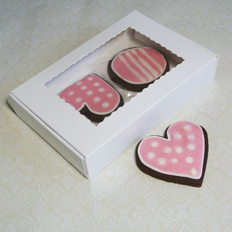 White Cookie Box for 4-6 Cookies ($1.50pc x 25 units)