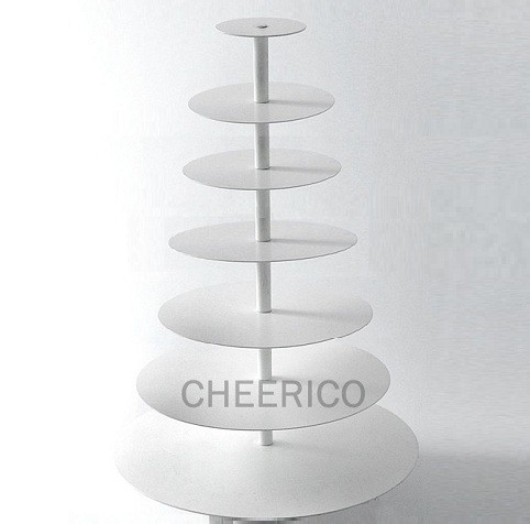 7 Tier White Maypole Acrylic Round Cupcake Tower
