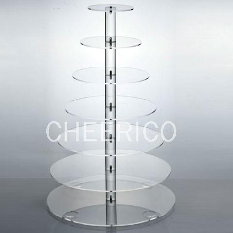 7 Tier Maypole Acrylic Cupcake Stand Display