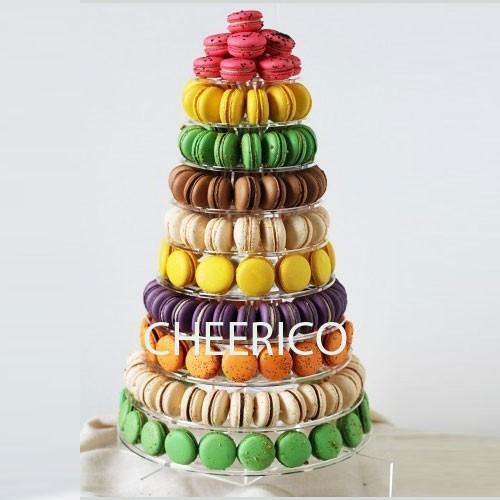 10  Tier Round Macaron Tower Macaron Stand