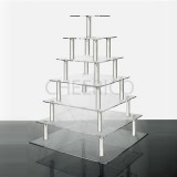 7 Tier Acrylic Square Cupcake Stand Tower Display