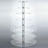 8 Tier Acrylic Round Maypole Cupcake Stand Tower Display