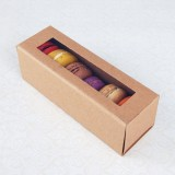 6 Kraft Brown Macaron Boxes($1.40/pc x 25 units)