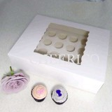 25 sets of Window Cupcake Box with 24 Medium Cupcake Holder($2.15 each set)