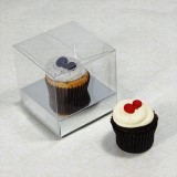 25 sets of Clear Cupcake Mini Box and 1 Silver Mini Cupcake Holder($1.10 each set)