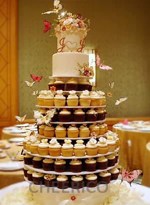 5 tier white cupcake stand